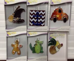 Switchables 6 Pc Mixed Lot Stained Glass Night Light Novelty Covers NEW In Box
