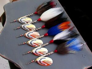 MUSKIE BUCKTAIL G.B. MUSKY LURE LOT OF 6