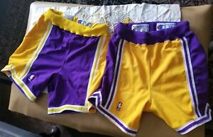 Nike authentic player issued Laker purple Home and Road shorts sz34 19931994