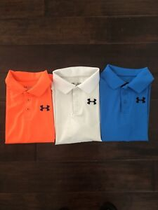 Under Armour Youth Golf Shirt Lot Of 3. Size Large.