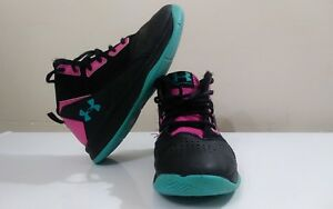 Under Armour Girls' PS Jet Basketball Shoes Size 1.5Y  Black Lunar Pink