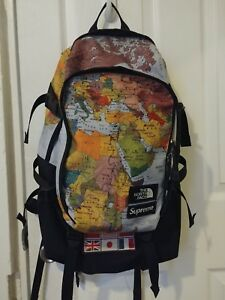 supreme north face expedition backpack map