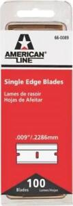 SINGLE EDGE RAZOR BLADES PACK OF 100 AMERICAN LINE 66-0089 BRAND NEW 100 COUNT