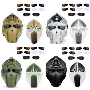 Hunting Full Face Protective Mask Goggle Tactical Airsoft Helmet Military WAR