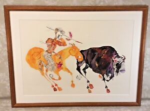 Salvador Dali Marked Etching Indian Hunting Buffalo Never Issued Pencil Marked