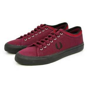 Fred Perry Men Kendrick Tipped Cuff Canvas Comfort Tennis Shoes Casual Sneakers