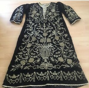 ANTIQUE OTTOMAN-TURKISH  METALLIC HAND EMBROIDERIED BRIDAL DRESS