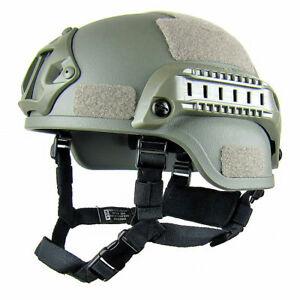 MICH2000 Mobile Protect Lghtweight CS Rail ABS Army Fan Mickey Tactical Helmet