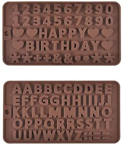 Prokitchen Silicone Letter Number Mold For Baking Chocolate Fondant Cake Brown