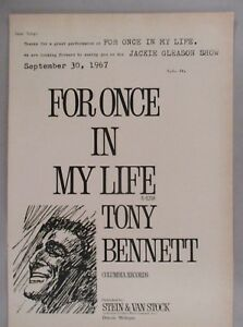 Tony Bennett PRINT AD 1967 For Once In My Life
