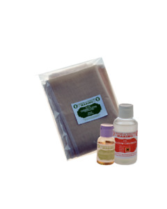 ECONOMY CHEESE KIT 3- LIQUID RENNET (CHOOSE ANIMAL OR VEGETABLE), CHEESE CLOTH,