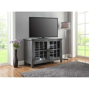 Tall TV Stand Farmhouse Rustic Entertainment Center Cabinet Credenza Console New