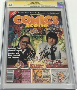 Comics Scene #1 Signed by Marvel Legend Stan Lee CGC 8.5 SS Rare Double Cover!