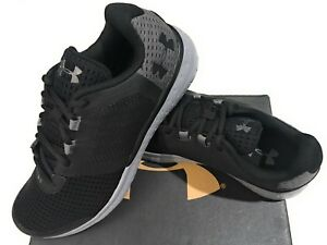 New Under Armour Men's Boys BGS Micro G Fuel RN Shoes Sneakers Black Size 7Y