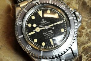 Tudor Submariner Oyster Prince Vintage model 7928 Gilt Ring and Tropical Insert