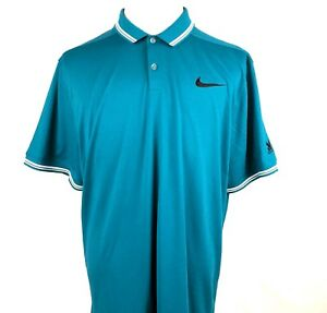 Disney Nike Golf Aulani Resort Men Polo Shirt Sz 2XL Teal Dri Fit Short Sleeve