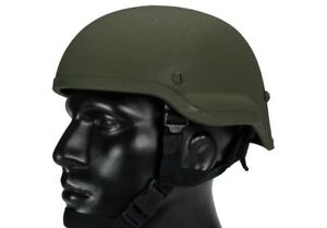 Lancer Tactical MICH 2002 Airsoft MilSim Helmet in Olive Drab OD Green