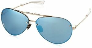 NEW Under Armour Double Down 8600083-941461 Gloss Rose Gold  Blue Sunglasses