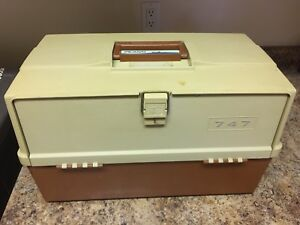 Vintage Plano 747 3 Drawer Fishing Tackle Box--Lures Sinkers Hooks