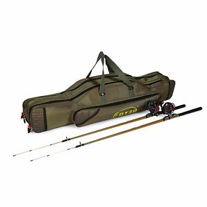 New Fishing Rod Pole Reel Shoulder Tackle Lure Bag Case Carry Storage Travel Box