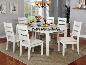 Modern Style 6pc Set Natural Tone Dining Side Chairs Padded Fabric Cushion Seat