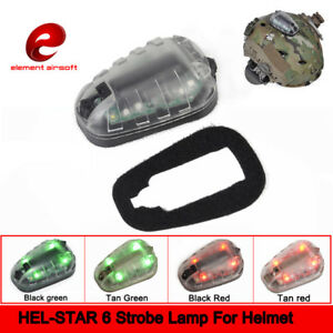 HEL-STAR 6 Strobe Lamp Tactical Safety Survival Flash IR Helmet Light Waterproof