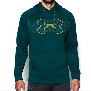 NWT Under Armour Mens Storm Icon Fleece  Hoodie 1313503 Arden Green 2XL $55