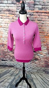 Nike Golf Tour Premium Dri Fit $100 Women Berry Pink Athletic Polo Shirt Top XS