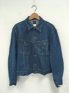 Lee Riders Jean Jacket  1970s Vintage Deadstock With Tags Size 44 L Made In USA