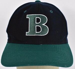 Navy Blue Initial B  Letter B embroidered baseball hat cap adjustable snapback