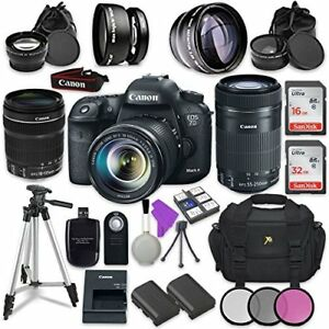 Canon EOS 7D Mark II 2 Lens Kit + Accessory Bundle