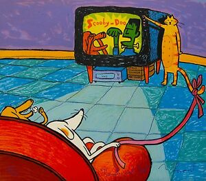 MATT RINARD quot;REMOTE CAT TROLquot; Hand Signed Limited Edition Lithograph Art $59.99