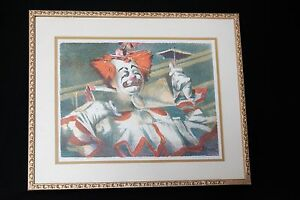 HERB RYMAN SIGNED LITHOGRAPH 1951 Pre Disneyland Circus Clown Disney Imagineer