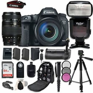 Canon EOS 7D Mark II Digital SLR Camera Bundle with (2) Lenses + Kit