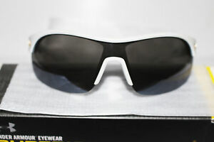 NEW Under Armour MARBELLA SHIELD Sunglasses Satin Pearl Gray Multiflection Lens