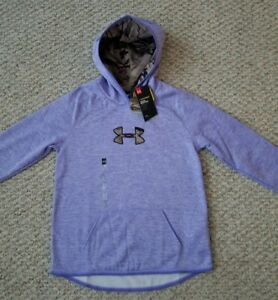 Under Armour Storm 1 NEW wTags Girls Lavender with Camo Hoodie Youth Size L