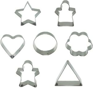 Akimy Cookie Cutter Set?7 PCs Cake Biscuit Pastry Baking Mould?Stainless