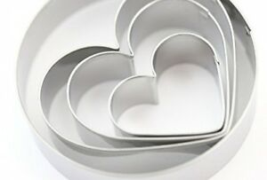 Daiso Japan - Heart Shaped Cookie Cutters 4-Piece Set Of 3 Hearts And One Circle