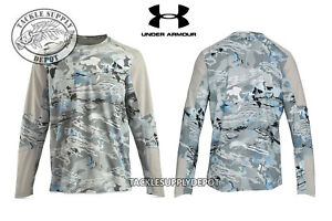 Under Armour CoolSwitch Thermocline Hybrid Crew Shirt Hydro Camo Gray - Pick