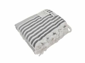 Oversized Turkish Towel Soft Terry Cloth Back Striped Turkish Bath Towel B...