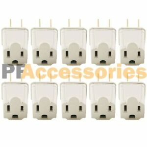 10 Pc 3 Prong to 2 Prong Outlet Electrical Ground AC Adapter Grounding Converter