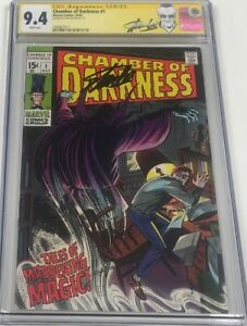 Marvel Chamber of Darkness #1 Signed by Stan Lee CGC 9.4 Classic Cover
