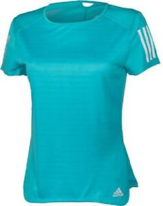 NEW Adidas Climacool Running T-Shirt Teal Blue Womens Girls Size L