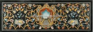 8'x4' Marble Restaurant Table Marquetry Beautiful Inlay Antique Gift Decor H5266