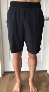 Lululemon Mens Size M THE Short 9  Black BLK OOM Lined Train Core Run Yoga NWT