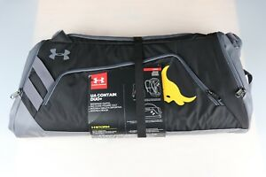 Under Armour Project The Rock Delta UA Contain Duo+ Black Backpack Duffel Bag
