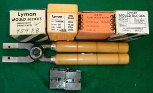 Large lot (6) Lyman bullet moulds with one set of handles