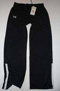NEW Womens Under Armour Track Pants Size Small UA Loose Heatgear Team Polyester