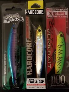 bass fishing lures lot 3 SUSPENDING JERKBAITS  HARD BAITS-CRANKBAITS-FRESHWATER