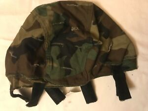 US ARMY MSA MICH ACH HELMET COVER CAMO REVERSIBLE WOODLAND TO DESERT MEDLG
